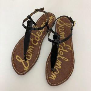 Sam Edelman Gigi T Strap Patent Leather Sandal